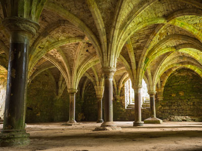 Battle Abbey interior arches