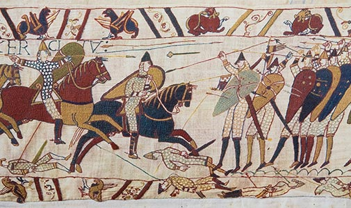 Bayeux Tapestry battle scene