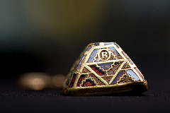 Garnet inlaid pyramid from Staffordshire Hoard